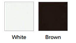 Standard Exterior Color: White and Brown